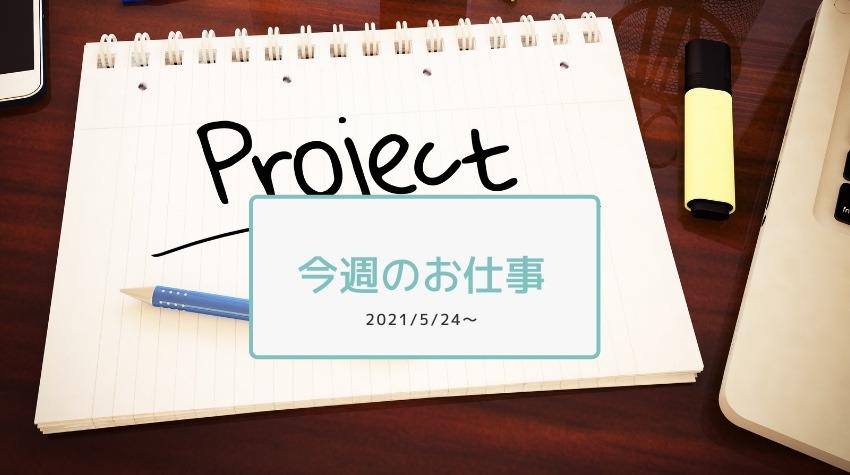 今週のお仕事2021/5/24〜システム開発プロジェクトとPMの話
