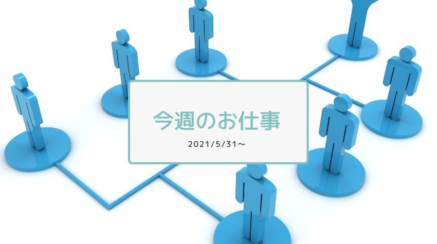 今週のお仕事2021/5/31〜顧客側の組織体制変更